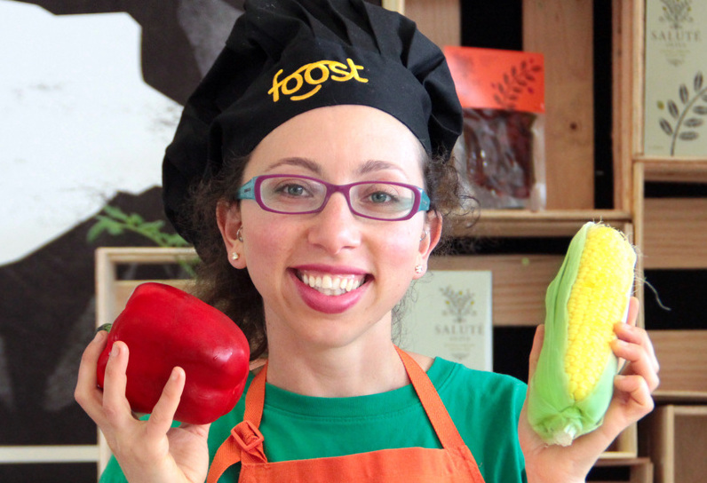 Kate Wengier with Healthy food for kids